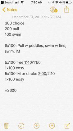 2600 Masters Swim Workouts, Swimming, Swim