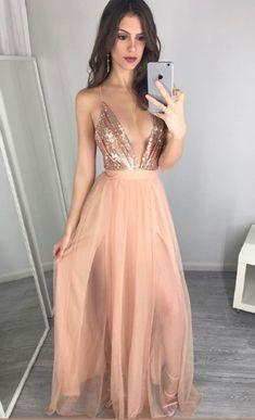 V-Neck Sexy Prom Dress,Long Prom Dresses,Charming Prom Dresses,Evening Dress Prom Gowns, Formal Women Dress,prom dress