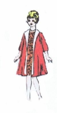 Barbie doll clothes, coat sewing patterns, barbie doll patterns, free Barbie sew
