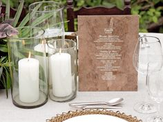 #candle, #menu  Photography: Aaron Delesie Photographer - aarondelesie.com Event Design + Production: Lisa Vorce - lisavorceohc.squarespace.com/ Floral Design: Mindy Rice - mindyrice.com/  Read More: http://www.stylemepretty.com/2013/03/28/mayakoba-rehearsal-dinner-from-aaron-delesie-lisa-vorce-mindy-rice/