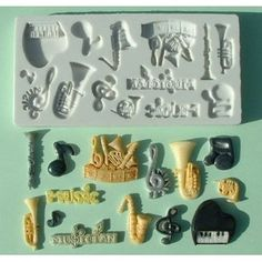 Music - Silicone Icing Moulds for Cake and Cupcake Decoration