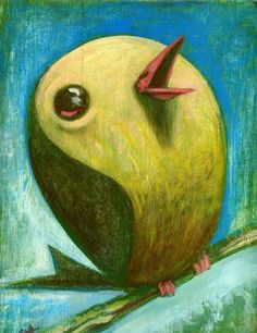 Sketchy Chubby Bird by-Brett Superstar