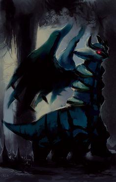 Giratina in the Shadows by =purplekecleon on deviantART