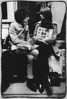 Loved me some Bob Dylan back in the day!! Bob Dylan & Françoise Hardy