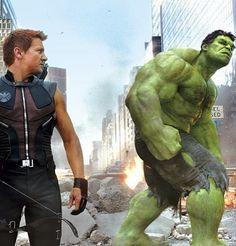 Hawkeye & Hulk #avengers