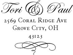 Great DIY return address stamp idea for wedding invites and after!