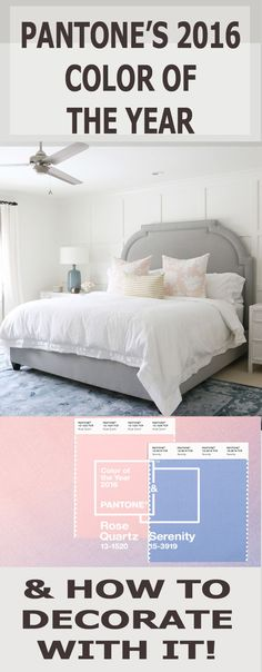 Find out Pantone's 2016 Color(s) of the Year and how to decorate with them! Photo credit:Studio Mcgee
