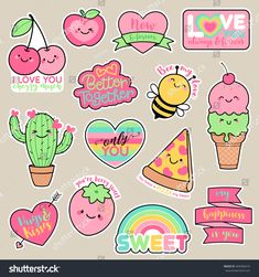 Pink Bee Girl Patches Cute Cartoon Badges Fun Stickers Design for Romantic Sweet Drawings, Kawaii Drawings, Easy Drawings, Stickers Kawaii, Cute Stickers, Hanging Tapestry, Hanging Wall Art, Wall Hangings, Doodles Kawaii