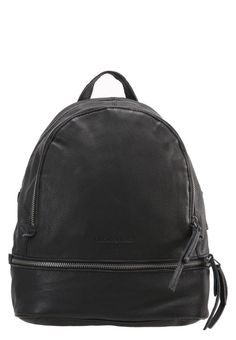 "LOTTA - Rucksack - black. #LeatherRucksacks #Rucksacks #LeatherBackpacks #Backpacks Lining:textile. Compartments:mobile phone pocket. carrying handle:3.0 "" (Size One Size). Fastening:Zip. height:12.0 "" (Size One Size). Outer material:leather. width:4.5 "" (Size One Size). length:10..."