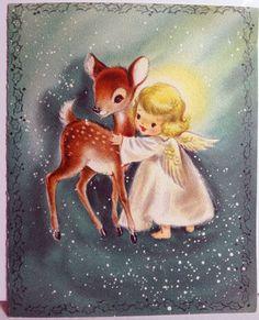 deer and angel