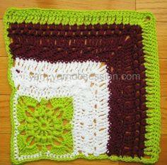 "French Corner 12"" Crochet Square | Yarn by Yarn Obsession"