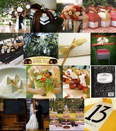 School Themed Wedding