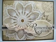 Stampin' Up Card - hello doily stamp. Handmade Greetings, Greeting Cards Handmade, Card Making Inspiration, Making Ideas, Cool Cards, Diy Cards, Stamping Up Cards, Sympathy Cards, Card Tags