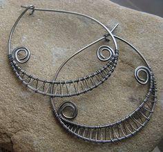 #Woven Hoop Earrings for Tutorial    share .. repin .. like