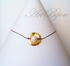 Bead Necklaces – Pearl Necklace, Leather Necklace, Gold Necklace – a unique product by ArtBijou on DaWanda