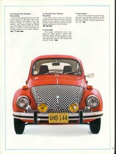 Cool 70s Accessories! Volkswagen, Vw Cabrio, 70s Toys, Vw Vintage, Ad Art, Vw Beetles, Cars And Motorcycles, Classic Cars, Vw Bugs