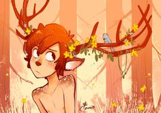 Cute deer child << ahem this cutie pie is dipper YOU UNCULTURED <<< y'all need to chill<< bless you people