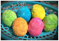 A unique twist on coloring Easter eggs…sugar them!