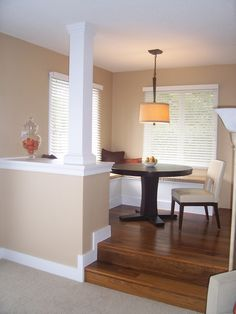Built In Half Wall And Column To Divide Eating Area From Family Room Part 73