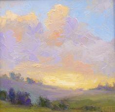 sunset clouds plein air inspiration