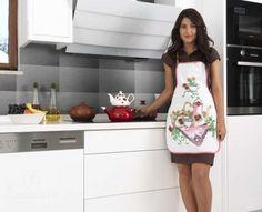 Купить фартук кухонный из хлопка и полиэстера KARNA DAMLA V7 от производителя Karna (Турция)