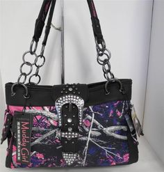 Attitude with Popularity!  Muddy Girl PINK Camo Fashion Handbag with Gun Concealed Compartment. Purchase from http://stores.ebay.com/jodezegiftsnmore/