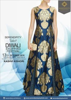 Your designer Ethnic and Indo-Western wear search ends here. Stylish Designer wear under one roof by KASHVI KISHORI @ Diwali Shopping Festival Take 9 on 13th October, at The Ashok, New Delhi.#SerendipityTake9 #Delhievent #DiwaliShoppingFestival