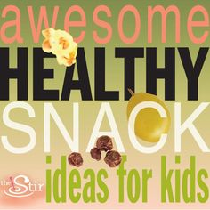 Tons of easy snack ideas to make kids happy, keep them healthy, and beat snack-time boredom.