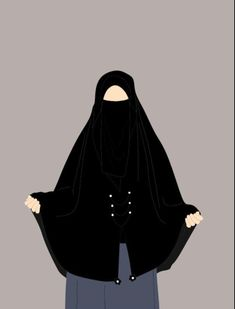 Hijabi Girl, Girl Hijab, Girly M, Cute Muslim Couples, Anime Muslim, Hijab Cartoon, Fashion Illustration Dresses, Cute Cartoon Girl, Islamic Girl