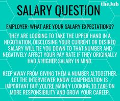 How to answer the job interview question: what are your salary expectations? Good Interview Answers, Job Interview Questions, Job Interview Tips, Job Interviews, Resume Writing Tips, Resume Skills, Job Resume, Resume Tips, Cover Letters