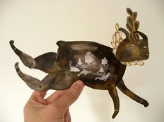 Leaping Sea Rabbit DIY Articulated Paper Doll by Etsy shop benconservato