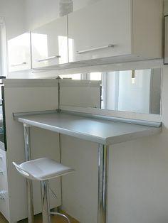My kitchen ,white kitchen ,mirror Kitchen White, Mirror, Table, Furniture, Home Decor, Decoration Home, Room Decor, Mirrors, Tables
