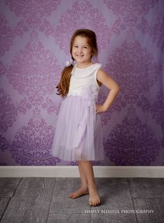 This cute photo from Simply Blissful Photography features our elegant Light Purple Damask Printed Backdrop! Available in 4 different materials and several sizes! Studio Backdrops, Photography Backdrops, Cute Photos, Light Purple, Damask, Tulle, Flower Girl Dresses, Elegant, Portrait