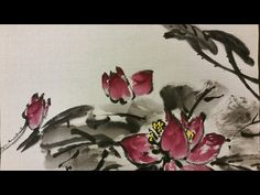 Korean Brush Painting - (3) Lotus (소현의 연 그리기) - YouTube