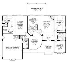 First Floor Plan of Country   Craftsman   Traditional   Victorian   House Plan 79509