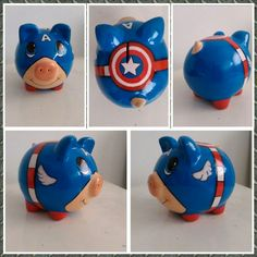 Personalized Piggy Bank, Princess Cartoon, Cute Pigs, Minions, Chibi, Decoupage, Diy And Crafts, Recycling, Pottery