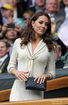Wimbledon Quarter-Finals: Federer v Youzhny   Kate's Clothes