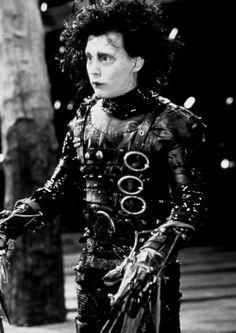 Johnny Depp in Tim Burton's Edward Scissorhands (1990)