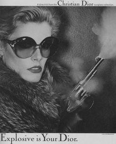 "Christian Dior advertisement, 1977.  """""