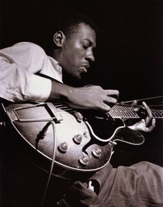 Grant Green during the recording of Lou Donaldson's A Man With A Horn session, Englewood Cliffs NJ, June 7 1963 (photo by Francis Wolff)