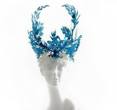 Winter Blue Snowflake Headdress~One of a Kind~ by FolkloreWorkshop on Etsy https://www.etsy.com/uk/listing/269396779/winter-blue-snowflake-headdressone-of-a