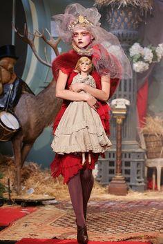 Living doll: Sasha Pivovarova at John Galliano Autumn/Winter 2007