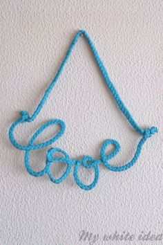 BRAIDED LOVE DIY   MY WHITE IDEA DIY