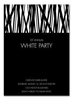 White Party - Corporate Invitations by Invitation Consultants. (Item # IC-GD-LK1 )