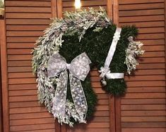 TheMiraclePony on Etsy Horse Head Wreath, Horse Art, Grapevine Wreath, Grape Vines, Christmas Wreaths, Backgrounds, Etsy Seller, Spirit, Horses