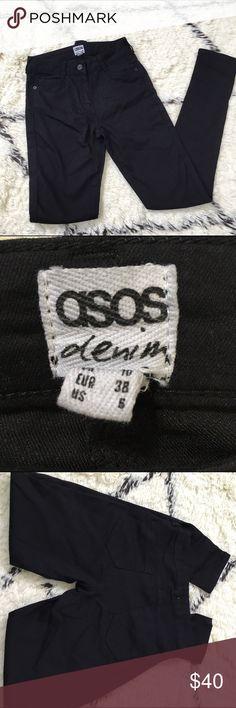 "NWOT Asos black denim jeans NWOT Asos black denim jeans; 27"" waist ; 40"" from waist to ankle; 30"" inseam ASOS Pants Ankle & Cropped"