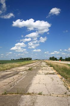 Abandoned Route 66 in Illinois. Road trip! http://frank-romeo.artistwebsites.com/art/all/route+66/all Art Print by Frank Romeo.