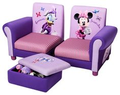 Disney Minnie Mouse Upholstered Chair By Delta Children.
