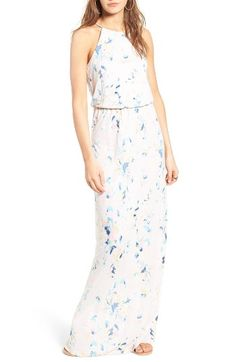 Free shipping and returns on Lush High Neck Maxi Dress at Nordstrom.com. A gathered waist creates fluid drape and a flattering silhouette in a casual maxi dress designed with a shoulder-baring high-neck bodice.