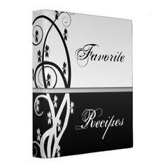 Floral Vine Recipe Book Binders from Zazzle.com